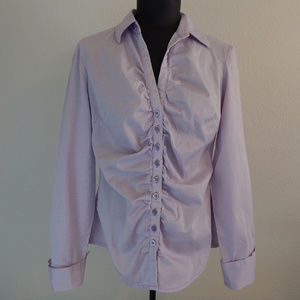 New York & Co Medium Cotton Button Front Stretch